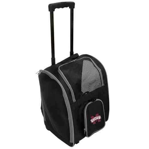 CLMPL902: NCAA Mississippi ST Bulldogs Pet Carrier Prem bag W/wheels