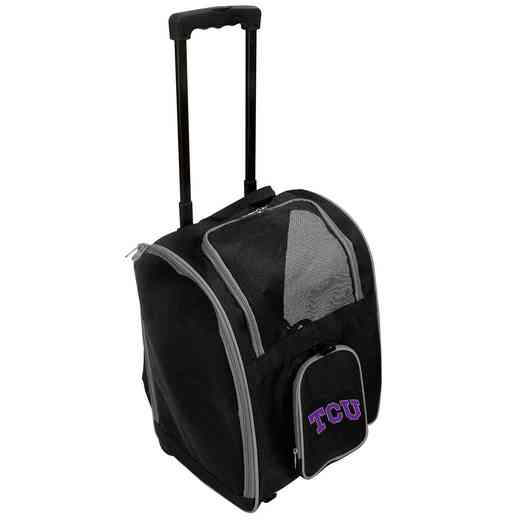 CLTCL902: NCAA TCU Horned Frogs Pet Carrier Premium bag W/ wheels