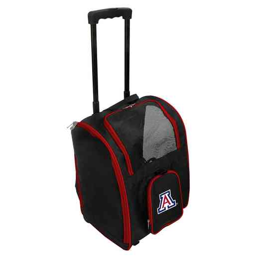 CLUAL902: NCAA Arizona Wildcats Pet Carrier Premium bag W/ wheels