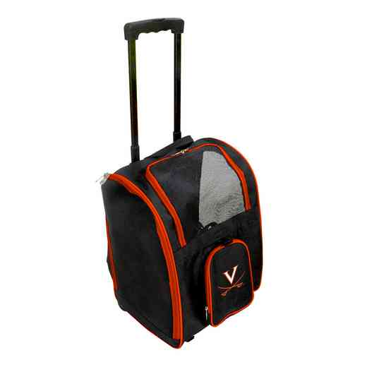 CLVIL902: NCAA Virginia Cavaliers Pet Carrier Premium bag W/ wheels