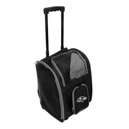 NFBRL902: NFL Baltimore Ravens Pet Carrier Premium bag W/ wheels