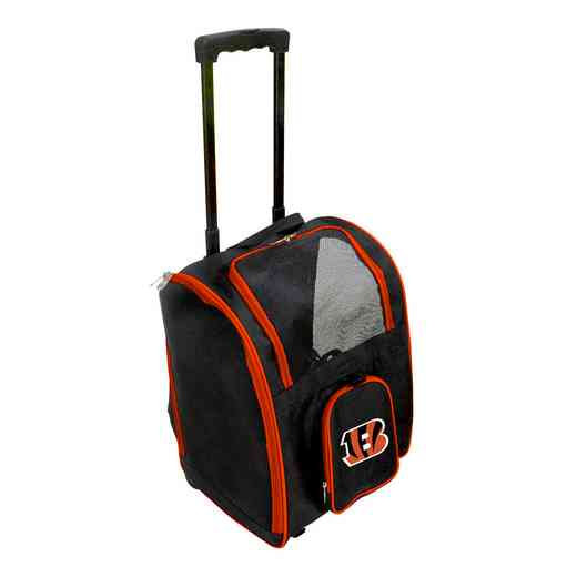 NFCIL902: NFL Cincinnati Bengals Pet Carrier Premium bag W/ wheels