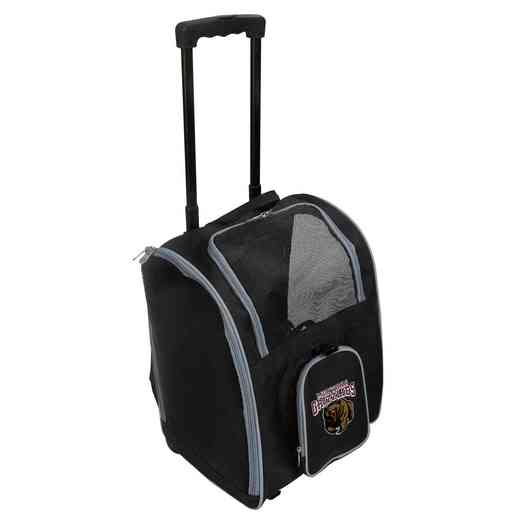 CLMGL902: NCAA Montana Grizzlies Pet Carrier Premium bag W/ wheels