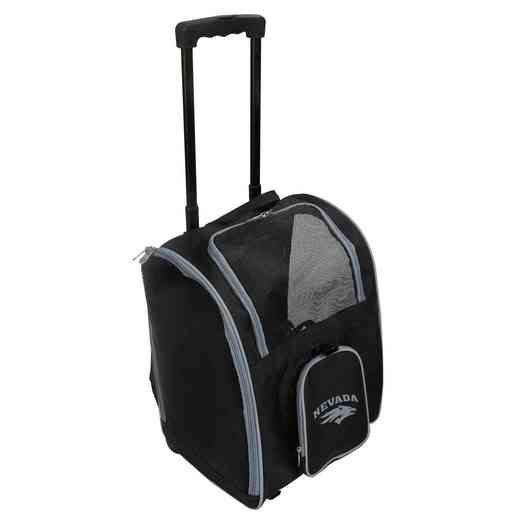 CLNAL902: NCAA Nevada Wolf Pack Pet Carrier Premium bag W/ wheels