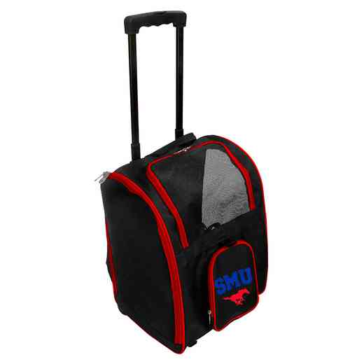 CLSML902: NCAA Southern Methodist Mustangs Pet Carrier Premium bag W/ wheels