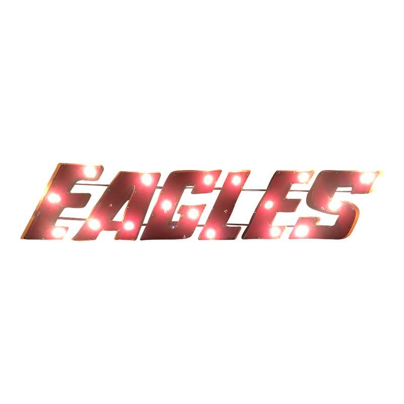 EAGLESWDLGT: Eagles recycled metal wall décor Illuminated