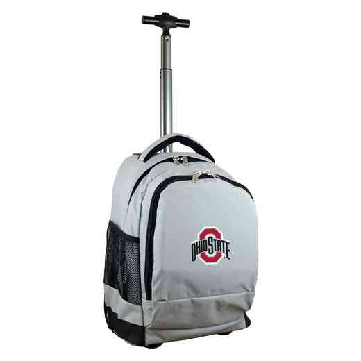 CLOSL780-GY: NCAA Ohio State University Buckeyes Wheeled Premium Backpack