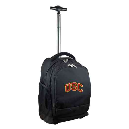 CLSCL780-BK: NCAA Southern Cal Trojans Wheeled Premium Backpack