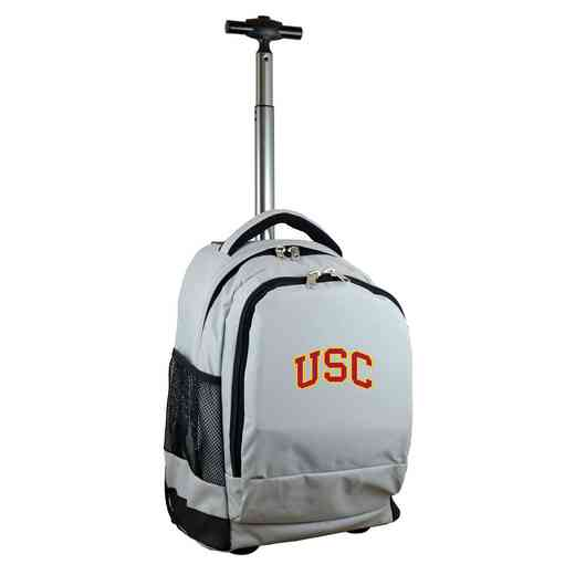 CLSCL780-GY: NCAA Southern Cal Trojans Wheeled Premium Backpack