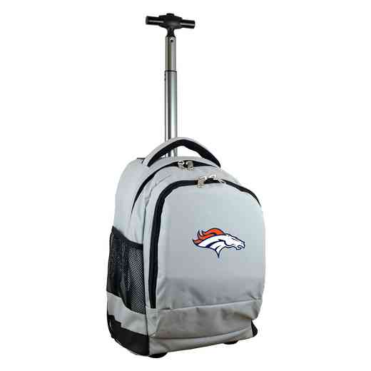 NFDBL780-GY: NFL Denver Broncos Wheeled Premium Backpack