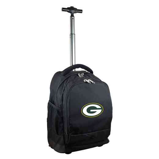 NFGPL780-BK: NFL Green Bay Packers Wheeled Premium Backpack