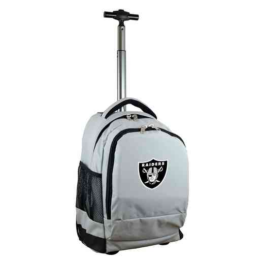 NFORL780-GY: NFL Oakland Raiders Wheeled Premium Backpack