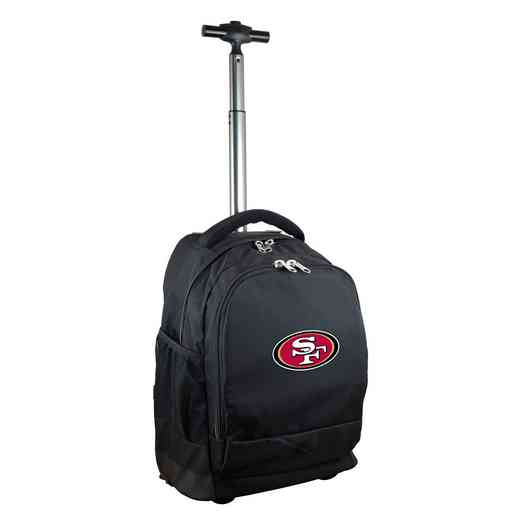 NFSFL780-BK: NFL San Francisco 49ers Wheeled Premium Backpack