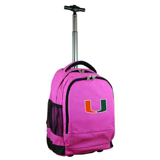 CLMUL780-PK: NCAA Miami Hurricanes Wheeled Premium Backpack