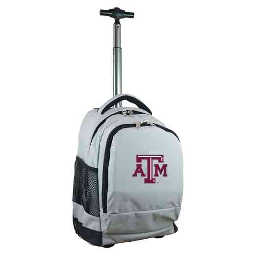 CLTAL780-GY: NCAA Texas A&M Aggies Wheeled Premium Backpack