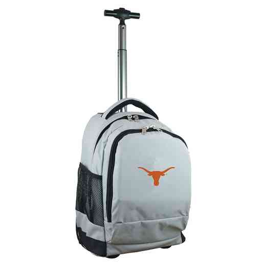 CLTXL780-GY: NCAA Texas Longhorns Wheeled Premium Backpack