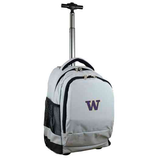 CLWAL780-GY: NCAA Washington Huskies Wheeled Premium Backpack