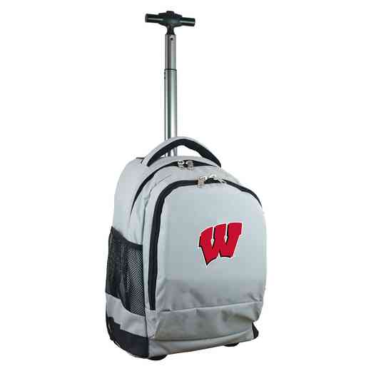 CLWIL780-GY: NCAA Wisconsin Badgers Wheeled Premium Backpack
