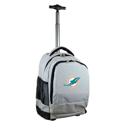 NFMDL780-GY: NFL Miami Dolphins Wheeled Premium Backpack