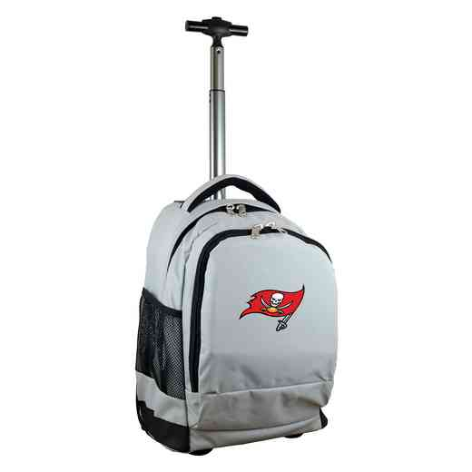 NFTBL780-GY: NFL Tampa Bay Buccaneers Wheeled Premium Backpack