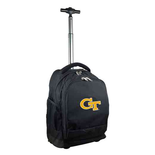 CLGTL780-BK: NCAA Georgia Tech Yellow Jackets Wheeled Premium Backpack