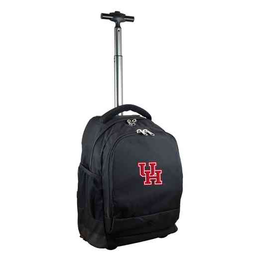 CLHUL780-BK: NCAA Houston Cougars Wheeled Premium Backpack