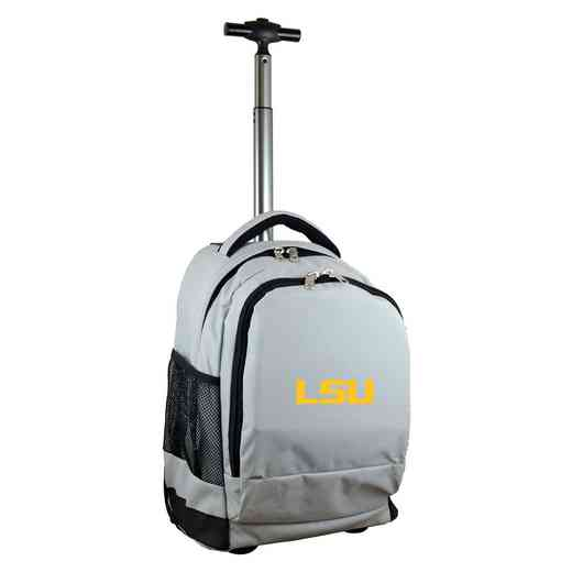 CLLSL780-GY: NCAA Louisiana Tigers Wheeled Premium Backpack