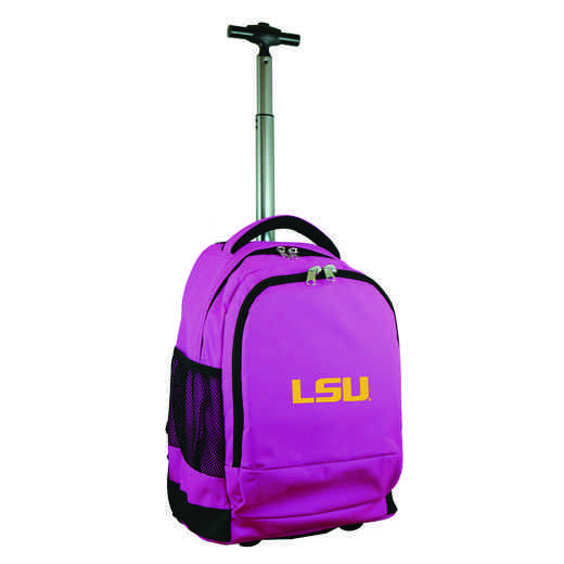 CLLSL780-PK: NCAA Louisiana Tigers Wheeled Premium Backpack