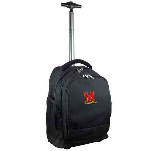 CLMDL780-BK: NCAA Maryland Terrapins Wheeled Premium Backpack