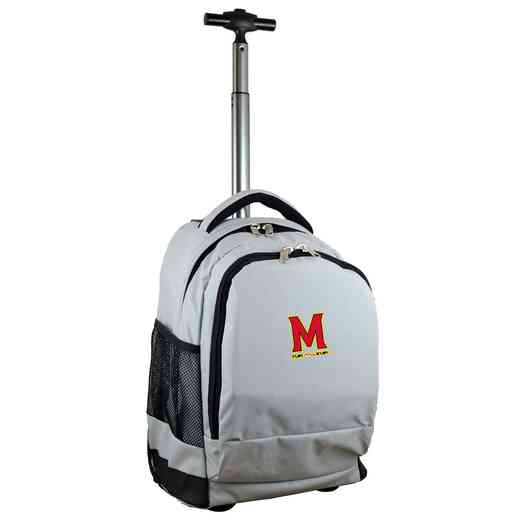 CLMDL780-GY: NCAA Maryland Terrapins Wheeled Premium Backpack