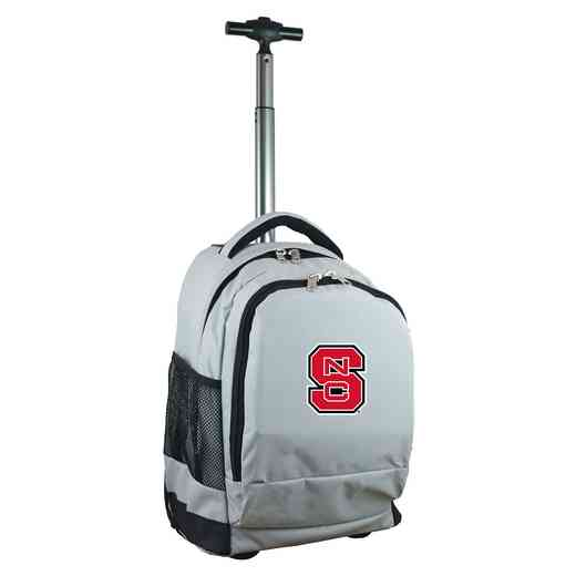 CLNSL780-GY: NCAA NC State Wolfpack Wheeled Premium Backpack