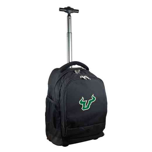 CLSFL780-BK: NCAA South Florida Bulls Wheeled Premium Backpack