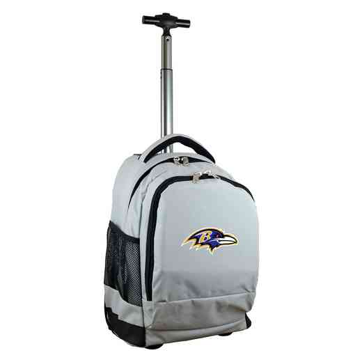 NFBRL780-GY: NFL Baltimore Ravens Wheeled Premium Backpack