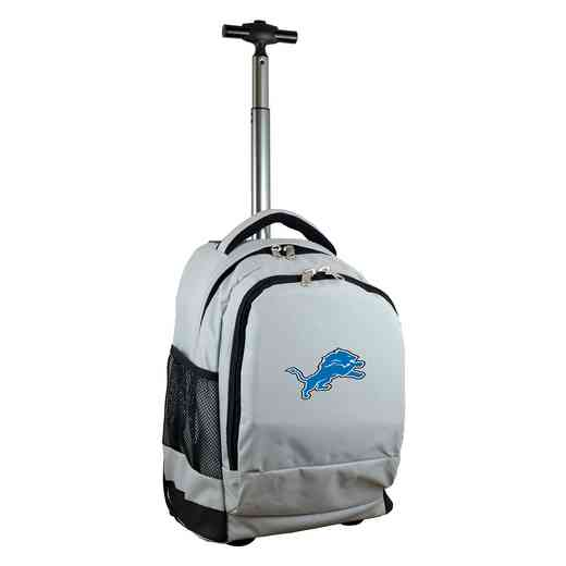 NFDLL780-GY: NFL Detroit Lions Wheeled Premium Backpack