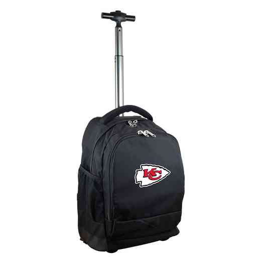 NFKCL780-BK: NFL Kansas City Chiefs Wheeled Premium Backpack