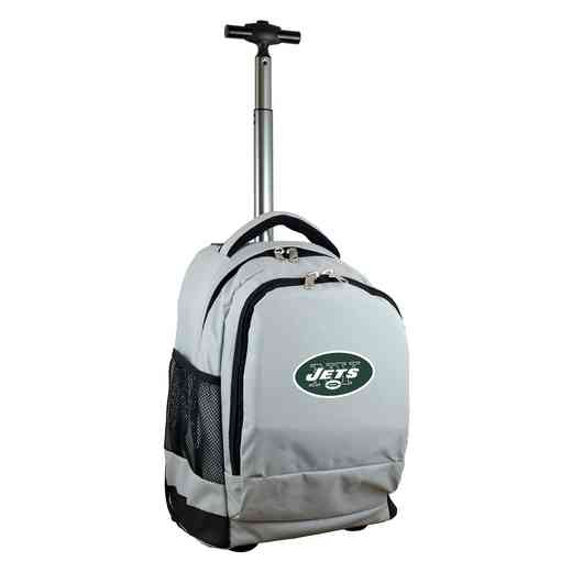 NFNJL780-GY: NFL New York Jets Wheeled Premium Backpack
