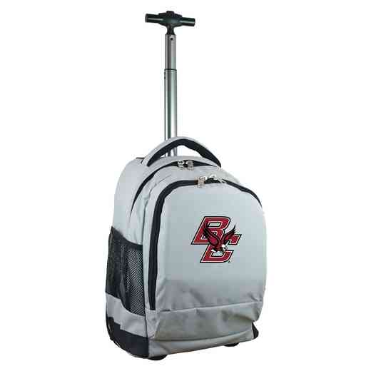 CLBCL780-GY: NCAA Boston College Eagles Wheeled Premium Backpack