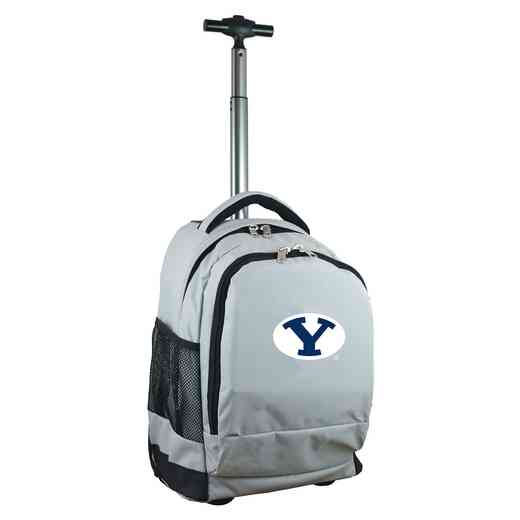 CLBYL780-GY: NCAA Brigham Young Cougars Wheeled Premium Backpack