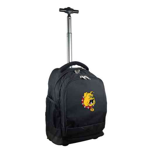 CLFEL780-BK: NCAA Ferris State Bulldogs Wheeled Premium Backpack