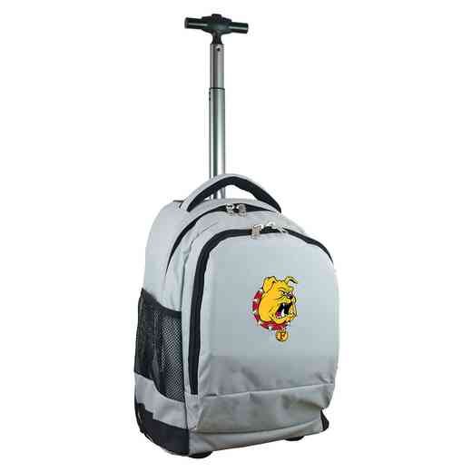 CLFEL780-GY: NCAA Ferris State Bulldogs Wheeled Premium Backpack