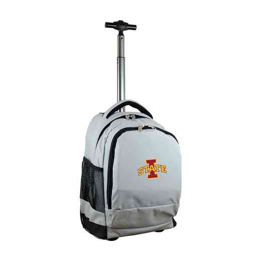 CLISL780-GY: NCAA Iowa State Cyclones Wheeled Premium Backpack