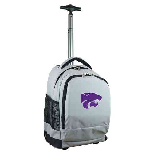 CLKSL780-GY: NCAA Kansas State Wildcats Wheeled Premium Backpack