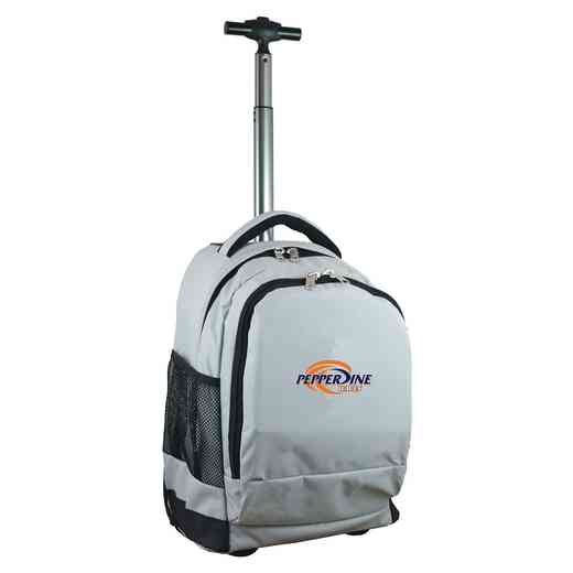 CLPPL780-GY: NCAA Pepperdine University Waves Wheeled Premium Backpack