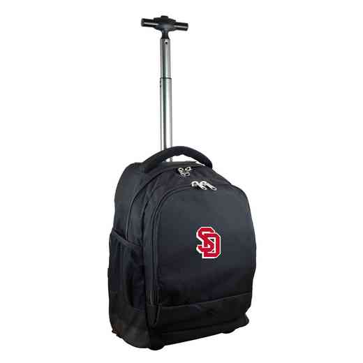 CLSDL780-BK: NCAA South Dakota Coyotes Wheeled Premium Backpack