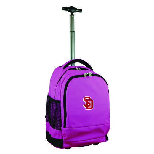 CLSDL780-PK: NCAA South Dakota Coyotes Wheeled Premium Backpack