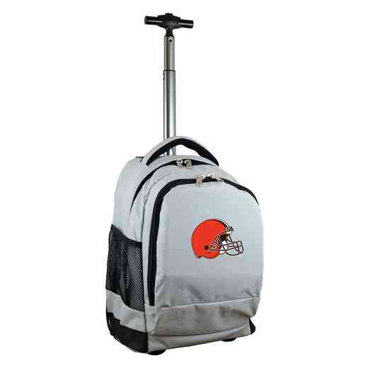 NFCLL780-GY: NFL Cleveland Browns Wheeled Premium Backpack