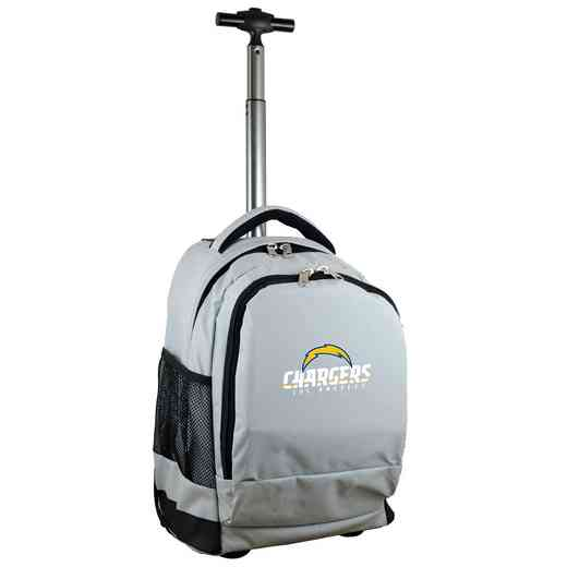 NFLCL780-GRAY: NFL Los Angeles Chargers  Wheeled Premium Backpack