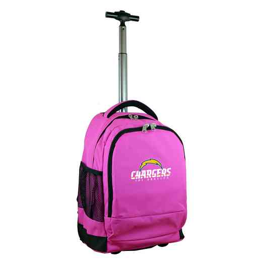 NFLCL780-PINK: NFL Los Angeles Chargers  Wheeled Premium Backpack