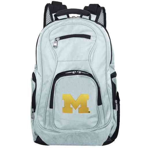 CLMCL704-GRAY: NCAA Michigan Wolverines Backpack Laptop