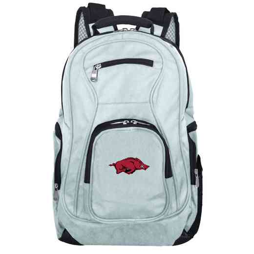 CLARL704-GRAY: NCAA Arkansas Razorbacks Backpack Laptop